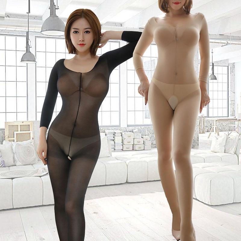 性感诱惑透视调情趣内衣薄弹网纱全身丝袜睡衣下体开档塑身连体衣