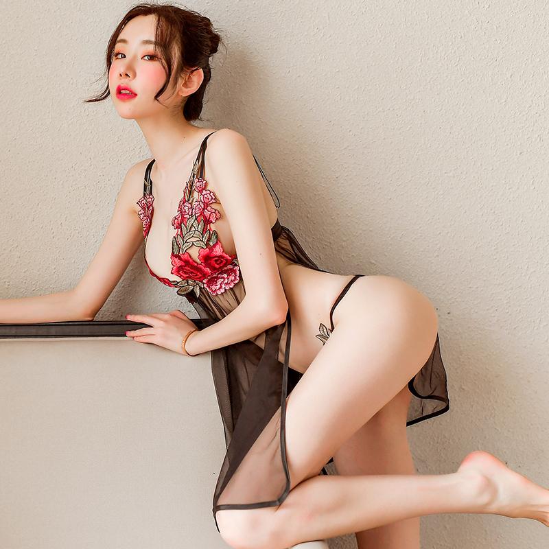 性感睡衣情趣内衣骚古代青楼透明薄纱衣服诱惑激情套装超骚女挑逗