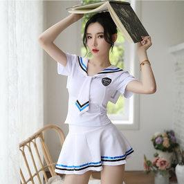 性感情趣内衣诱惑学生装学生服表演服日系学院水手服女舞台装