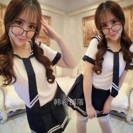 情趣学生装水手服性感制服诱惑丝袜真人女人内衣套装 演出服套装
