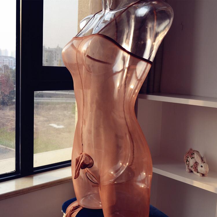 新款男士油亮jj套全身丝袜超薄包裹诱惑性感连身袜连体衣2019