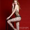 外贸性感情趣内衣诱惑连体丝袜开裆露乳连体衣成人女连身网衣袜